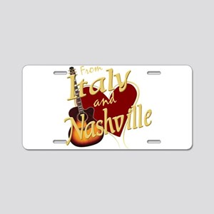 Love Nashville from Italy Aluminum License Plate