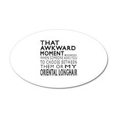 Awkward Oriental Longhair Ca Wall Decal