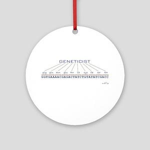 Geneticist Ornament (Round)