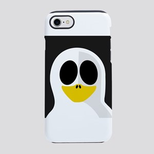 Ghost Penguin on Black iPhone 8/7 Tough Case
