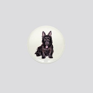 Scottish Terrier Black Mini Button