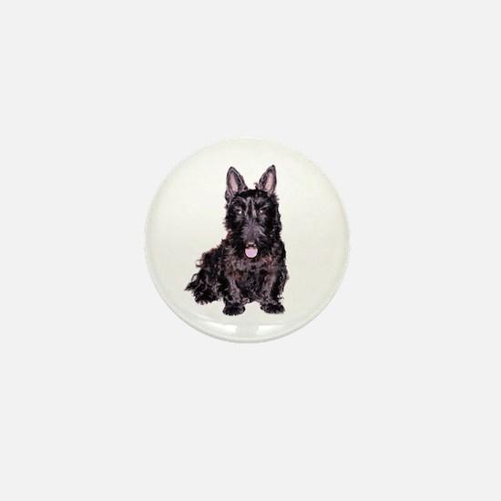 Scottish Terrier Black Mini Button