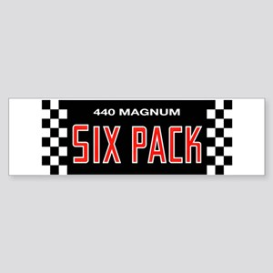 Six Pack Bumper Sticker