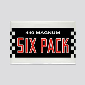 Six Pack Rectangle Magnet