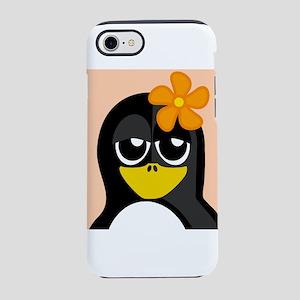 Tropical Flower Penguin iPhone 8/7 Tough Case