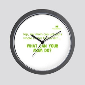 Yep, my mom can unload a whol Wall Clock