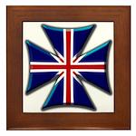 British Biker Cross Framed Tile