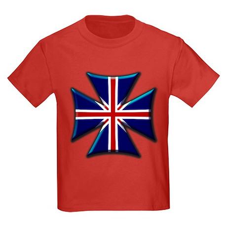 British Biker Cross Kids Dark T-Shirt