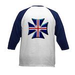British Biker Cross Kids Baseball Jersey