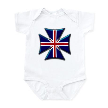 British Biker Cross Infant Bodysuit