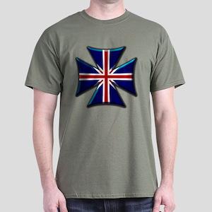 British Biker Cross Dark T-Shirt