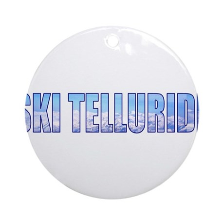 Ski Telluride Ornament (Round)