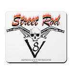 Street Rod v8 Flames and skull Mousepad