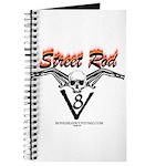 Street Rod v8 Flames and skull Journal