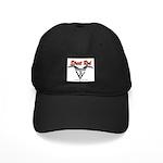 Street Rod v8 Flames and skull Black Cap