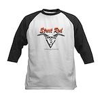 Street Rod v8 Flames and skull Kids Baseball Jerse