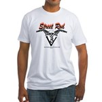 Street Rod v8 Flames and skull Fitted T-Shirt