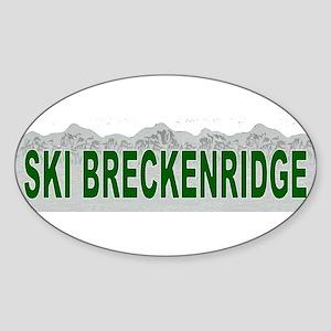 Ski Breckenridge Oval Sticker