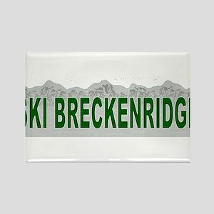 Ski Breckenridge Rectangle Magnet