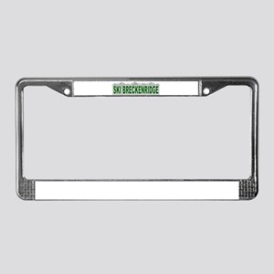 Ski Breckenridge License Plate Frame