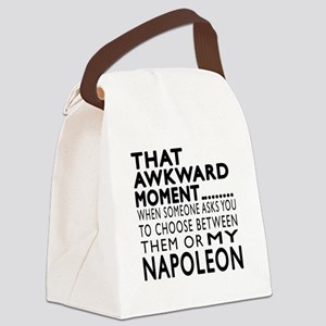 Awkward Napoleon Cat Designs Canvas Lunch Bag
