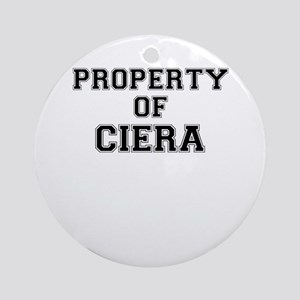 Property of CIERA Round Ornament
