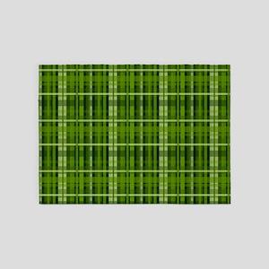 Modern Irish Green Plaid Pattern 5'x7'Area Rug
