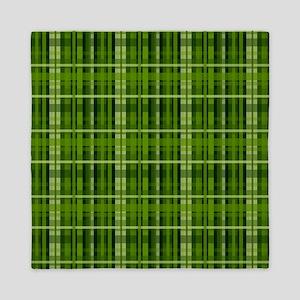 Modern Irish Green Plaid Pattern Queen Duvet