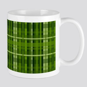 Modern Irish Green Plaid Pattern Mugs