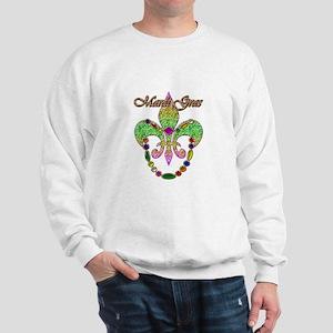Beaded Mardi Gras Sweatshirt
