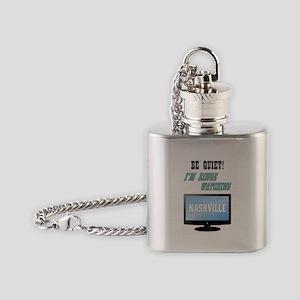 BE QUIET! (NASHVILLE) Flask Necklace