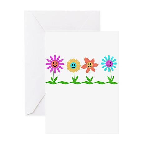 Smiley garden Greeting Card