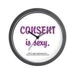 Consent is sexy 2 Edu- Wall Clock