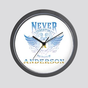 Never underestimate the power of anders Wall Clock
