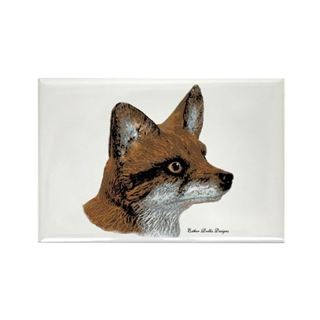 Fox Profile Design Rectangle Magnet