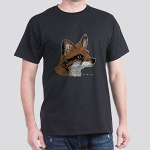 Fox Profile Design Dark T-Shirt