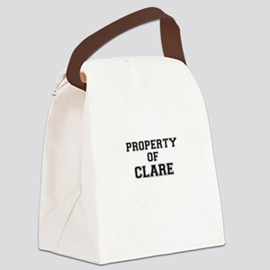 Property of CLARE Canvas Lunch Bag