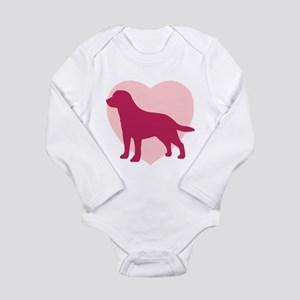 Labrador Retriever Valentine's Day Infant Bodysuit