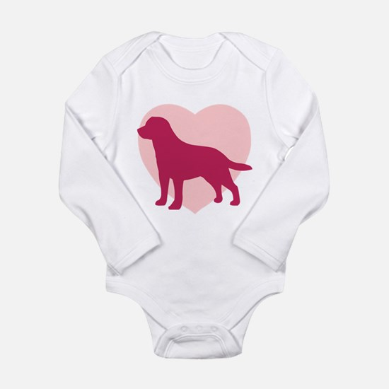Labrador Retriever Valentine's Day Infant Bodysuit
