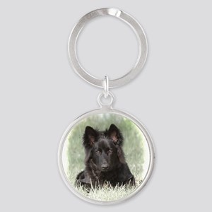 Long Coated German Shepherd Keychains