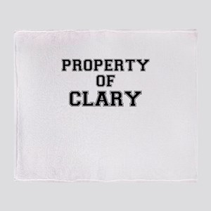 Property of CLARY Throw Blanket
