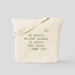 18 wheels, 80,000 pounds, 11 Tote Bag