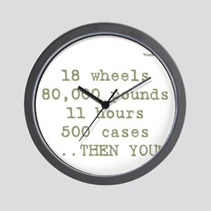 18 wheels, 80,000 pounds, 11 Wall Clock
