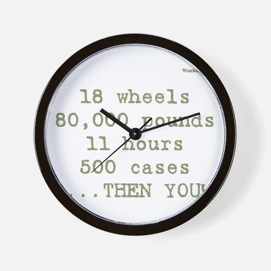 18 wheels, 80,000 pounds, 11 Wall Clock