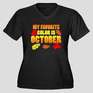Favorite Color Is October Plus Size T-Shirt