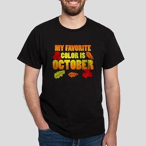 Favorite Color Is October T-Shirt