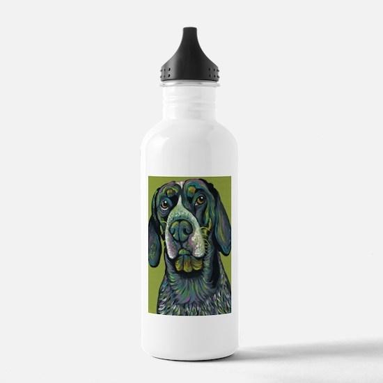 Blue Tick Coonhound Rainbow Dog Water Bottle