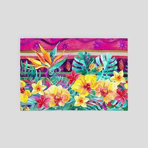 Tropical Watercolor 4' X 6' Rug