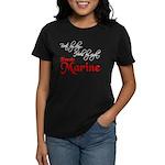 Boots by Day Female Marine Women's Dark T-Shirt