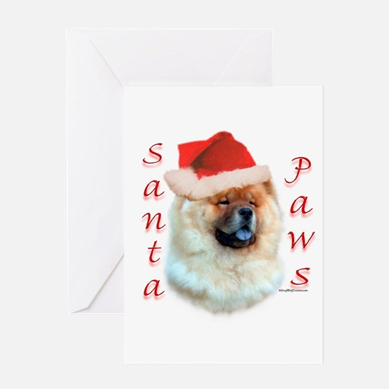 Chow Paws Greeting Card